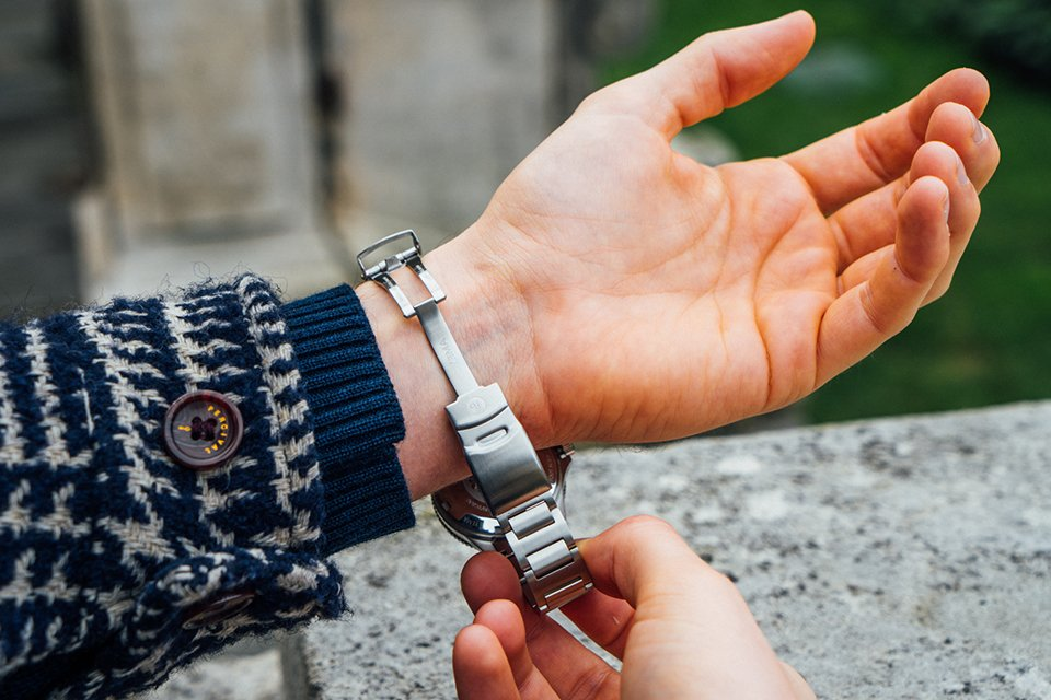yema navygraf bracelet ouvert