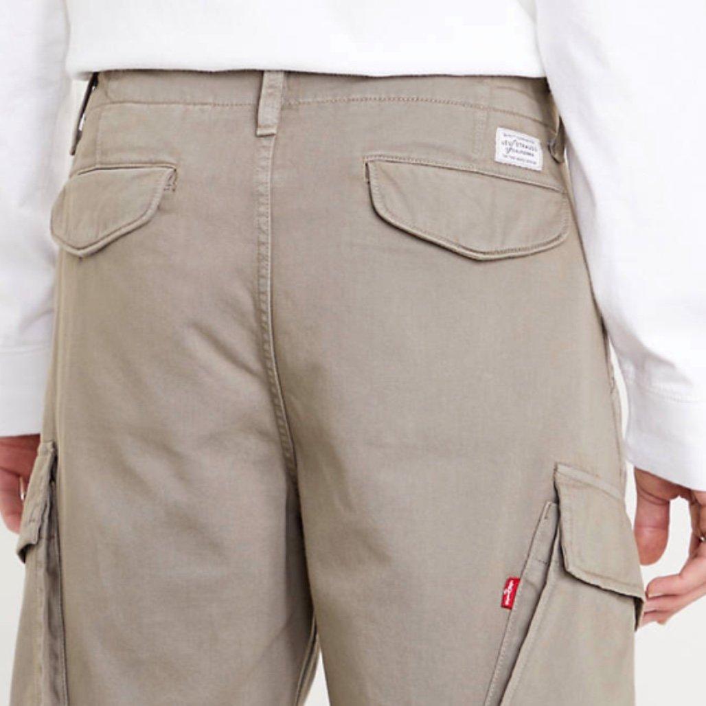 Pantalon cargo levis beige poches arrieres