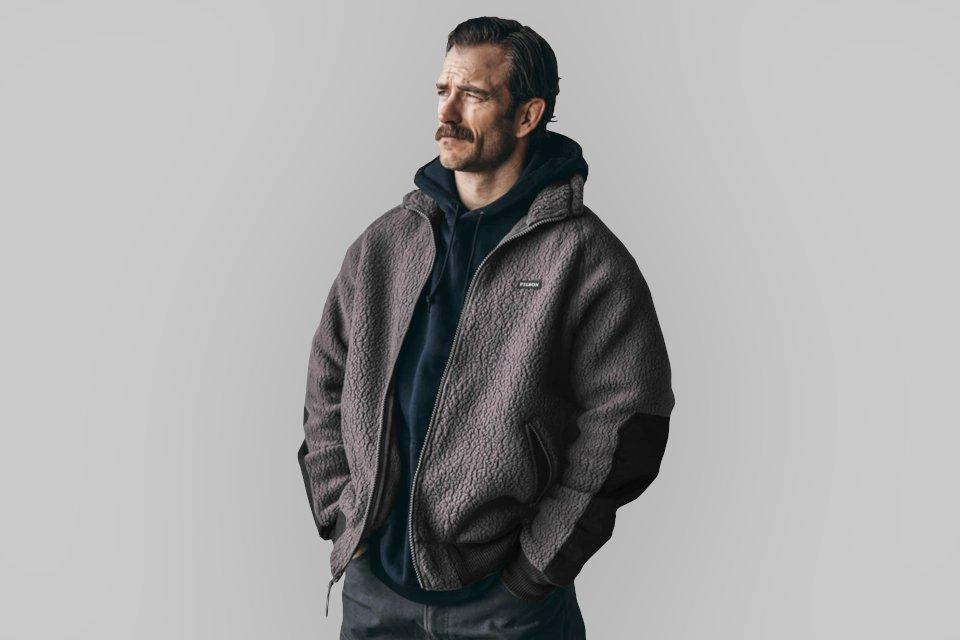 fleece jacket homme filson grey