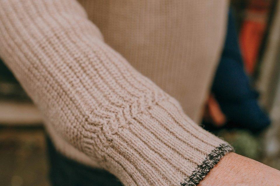 la mecanique du pull poignets