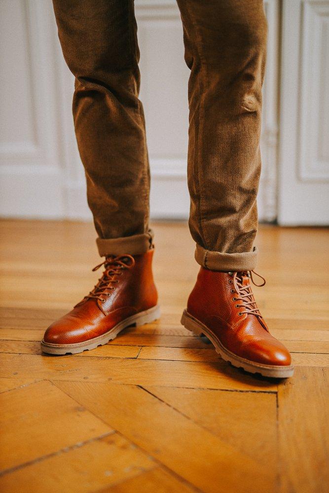 homme - look - workwear - velours - 1
