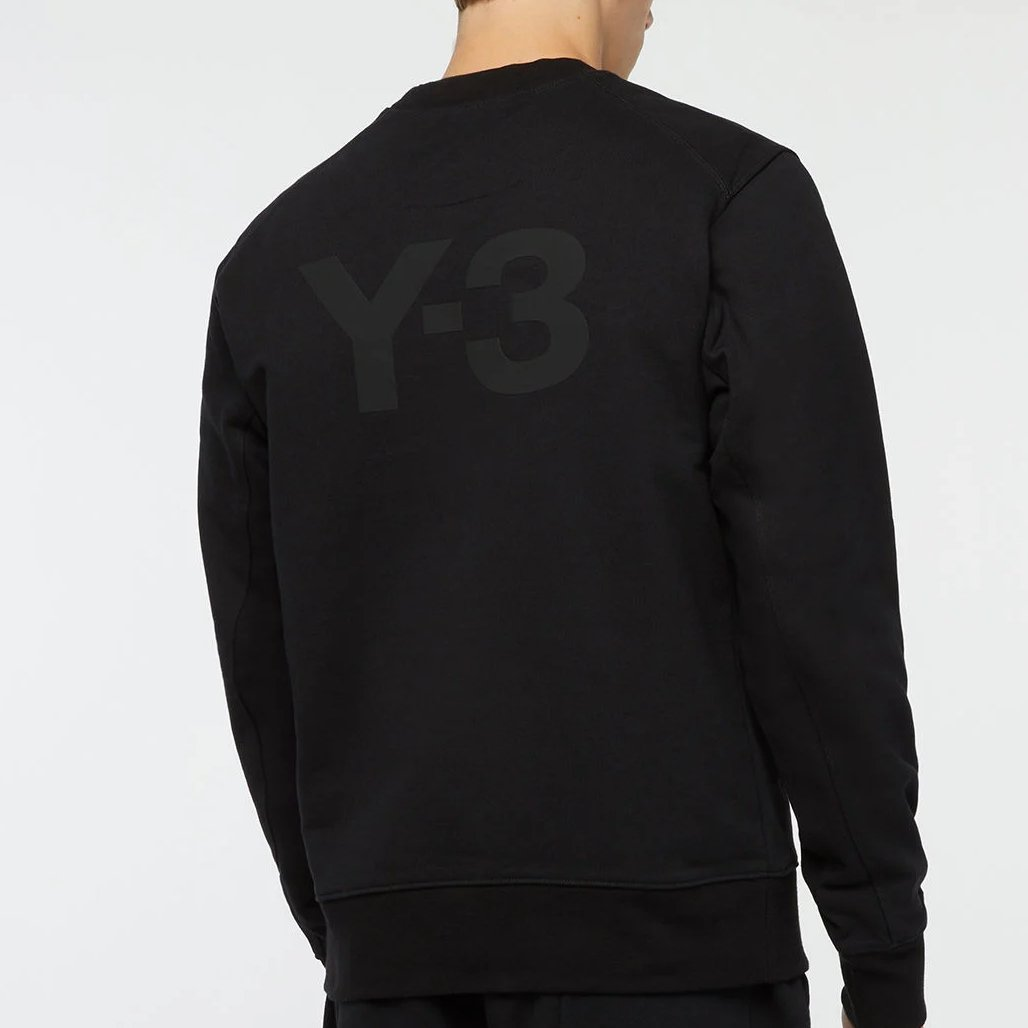 sweatshirt noir coton y-3 dos