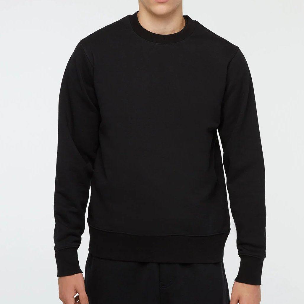 sweatshirt noir coton y-3 porté