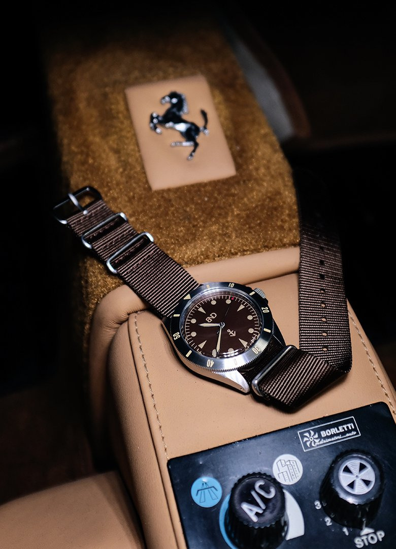 bnd watches marron