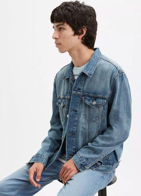 Trucker Jacket Bleu Clair