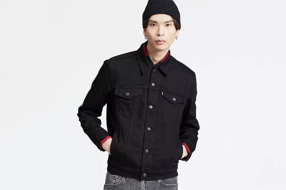 Trucker Jacket Noire