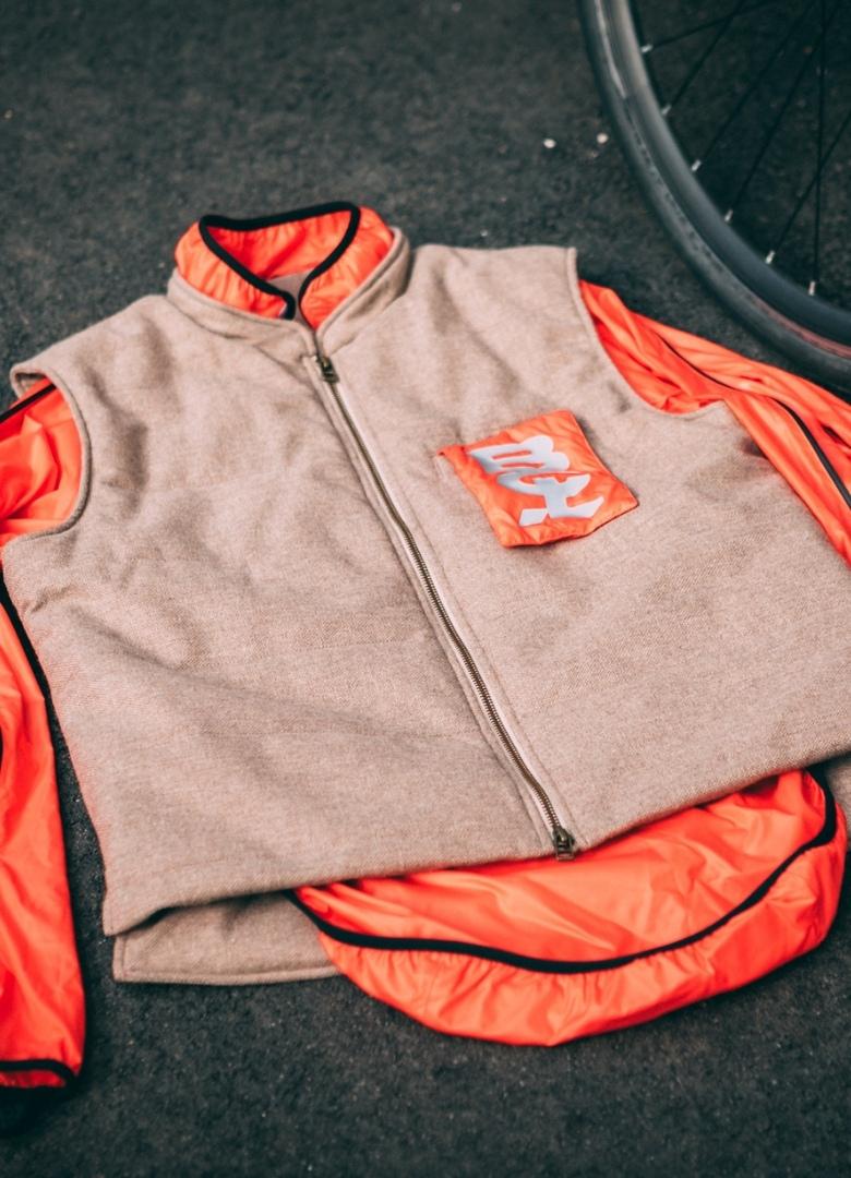 veste gilet bouclé velotaf déplié