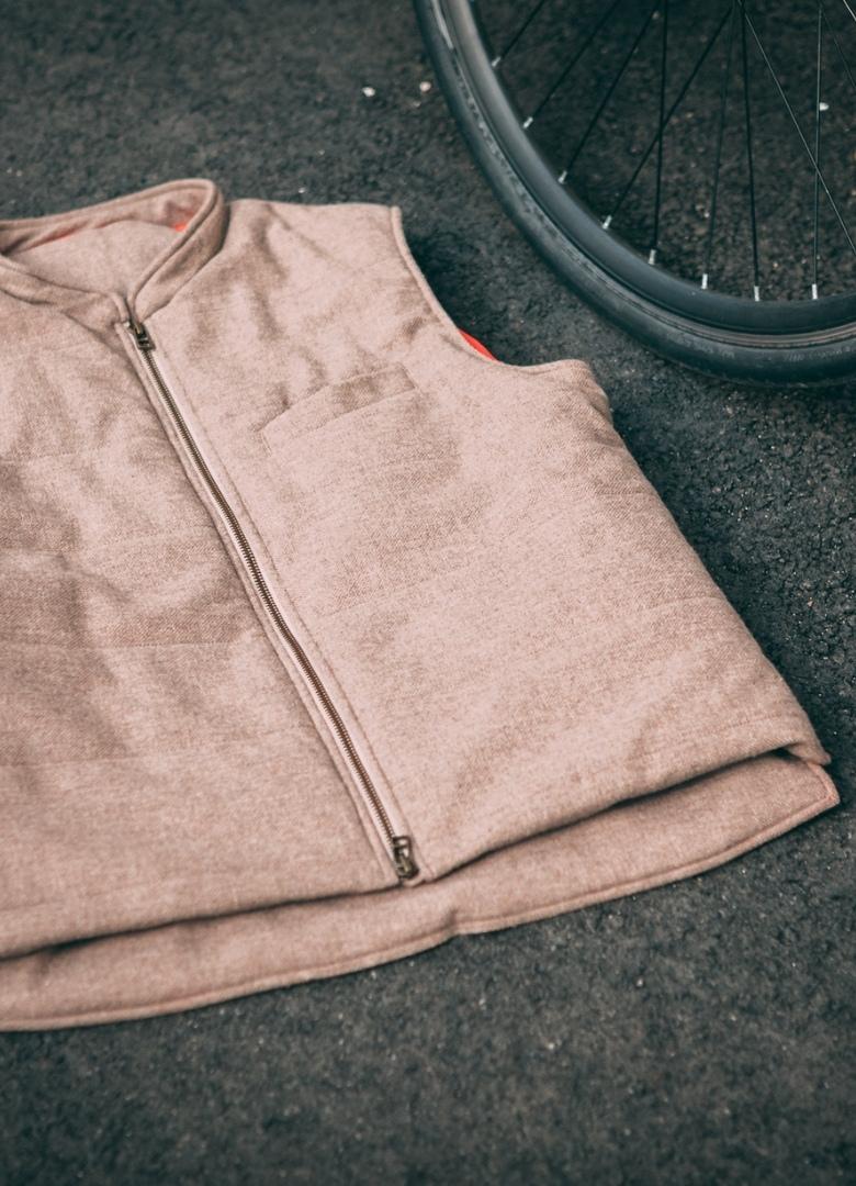 veste gilet bouclé velotaf plié