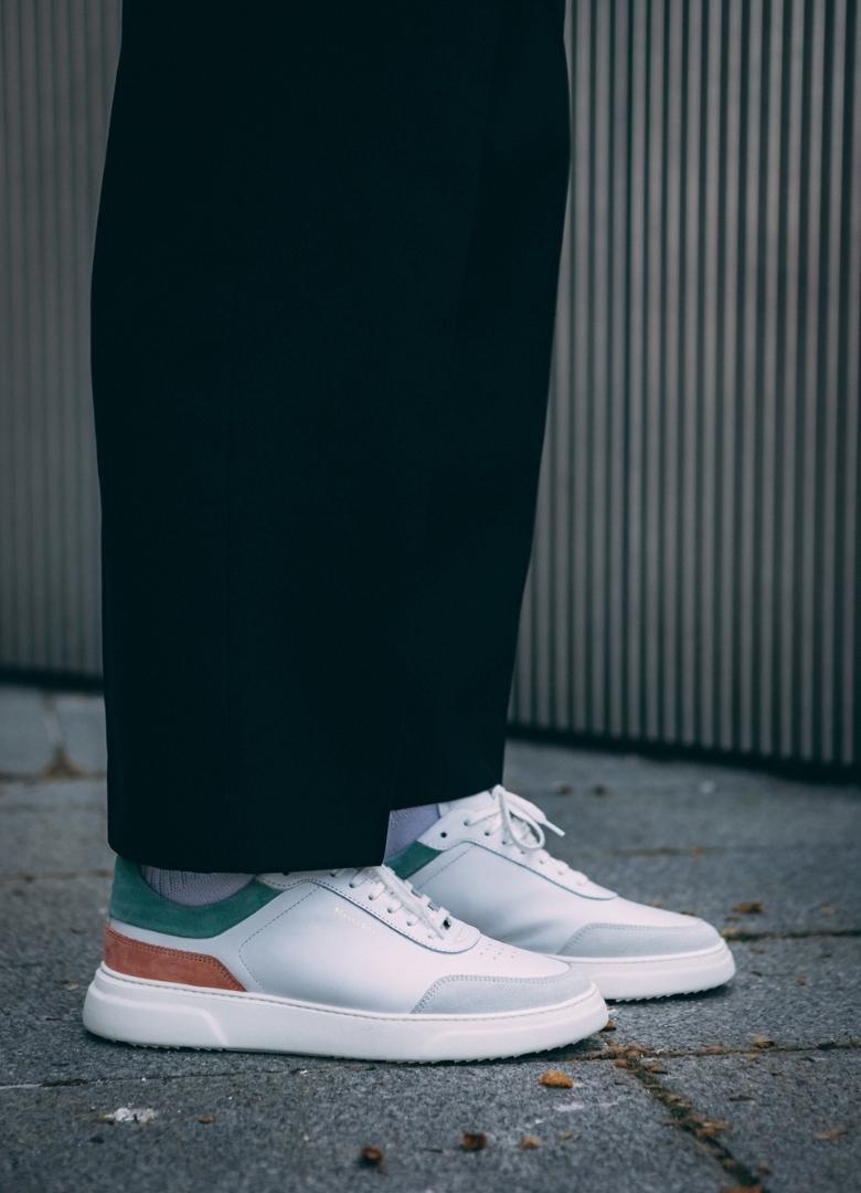 basket belledonne sneakers blanche casual b2 peach
