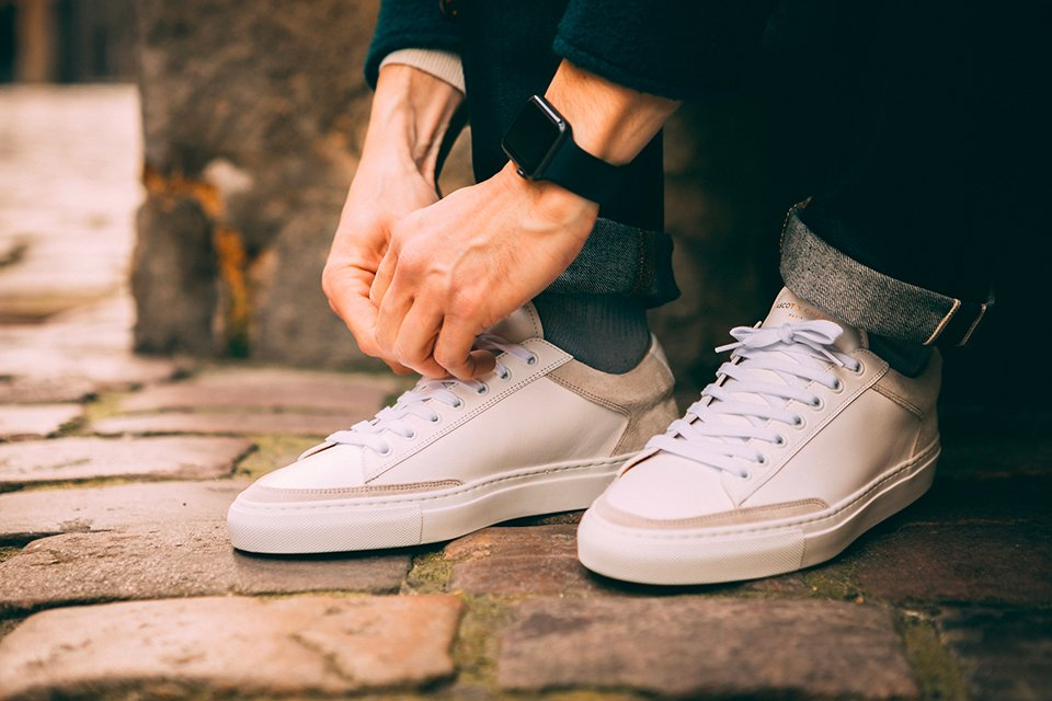 basket ascot et charlie sneakers blanche casual