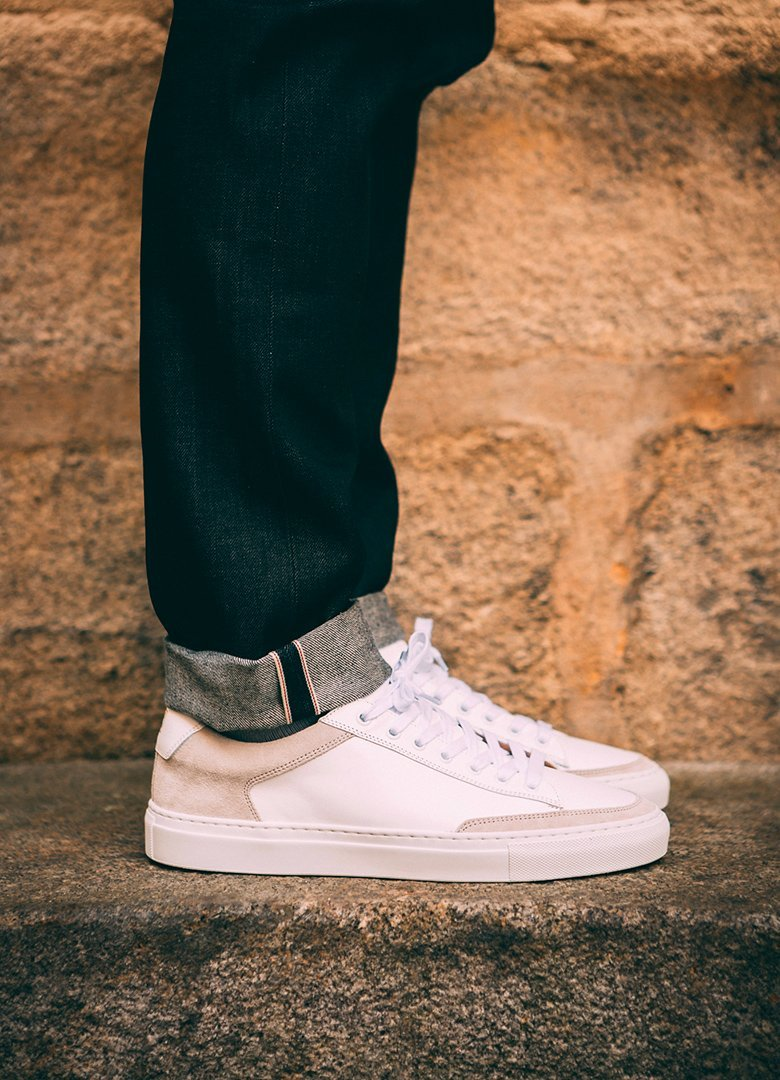 basket ascot et charlie sneakers blanche casual profil on feet