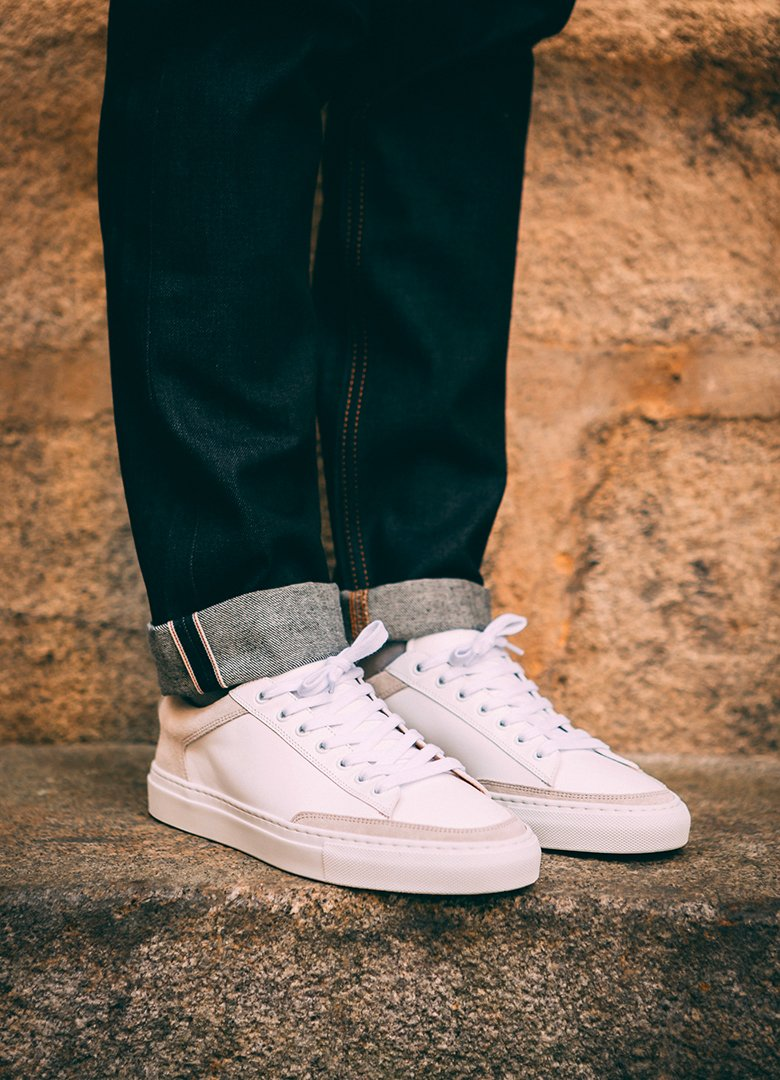 basket ascot et charlie sneakers blanche casual portées