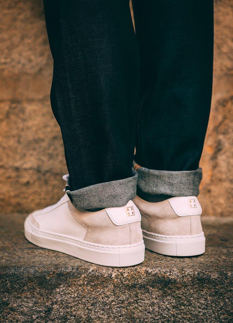 basket ascot et charlie sneakers blanche casual de dos talon