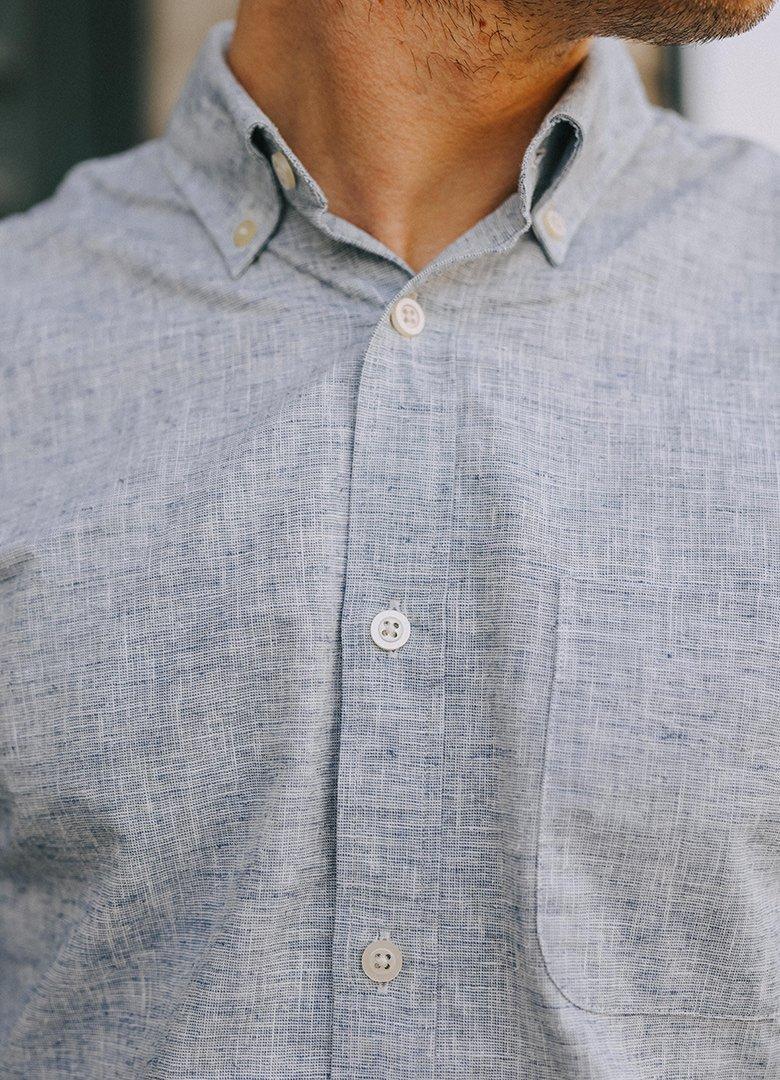 chemise hircus chanvre col