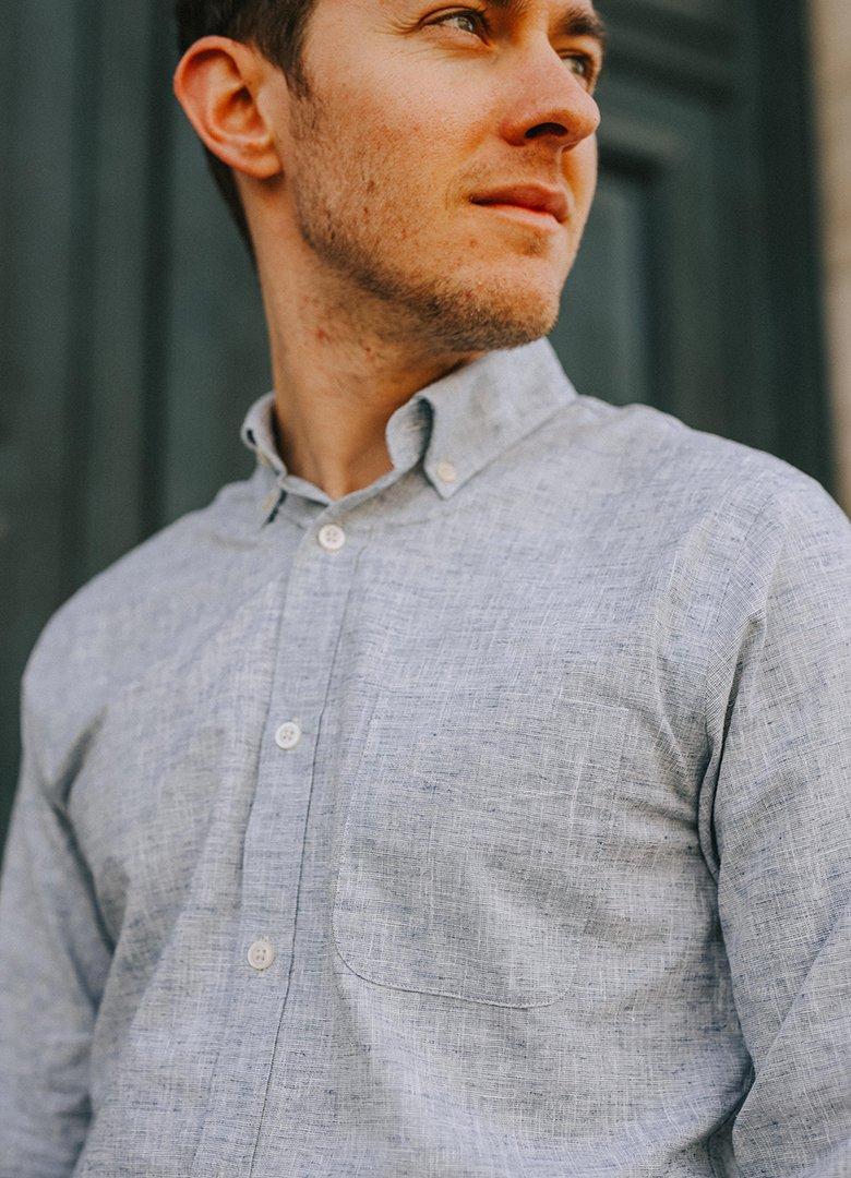 chemise hircus chanvre portée