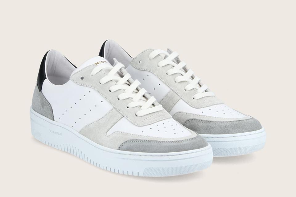 sneaker suede white schmoove