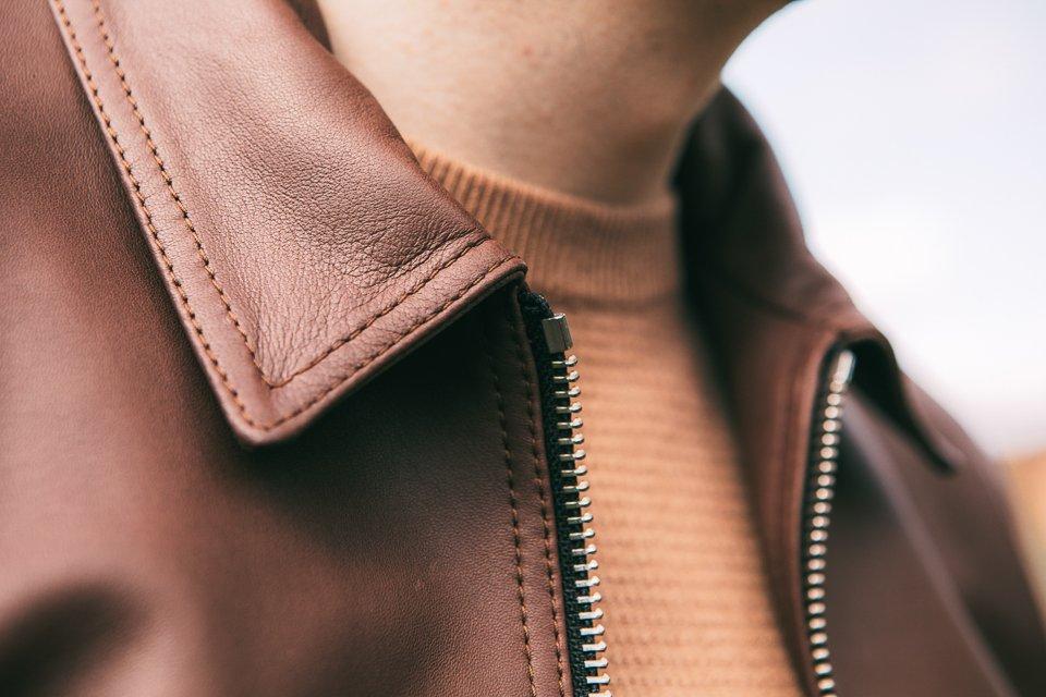 Veste-cuir-homme-marron
