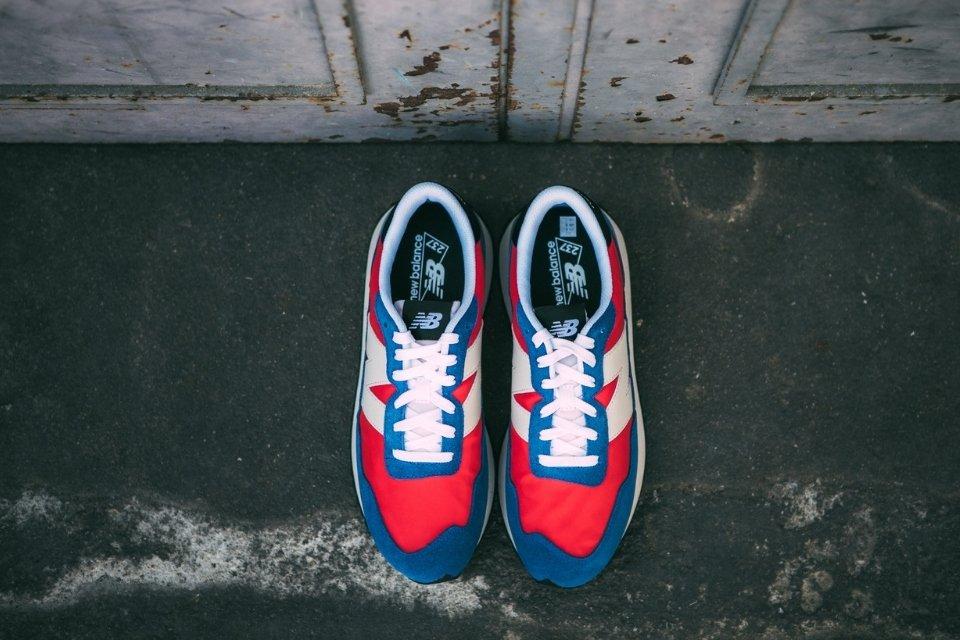 sneakers basket new balance 237 rouge bleu sportswear