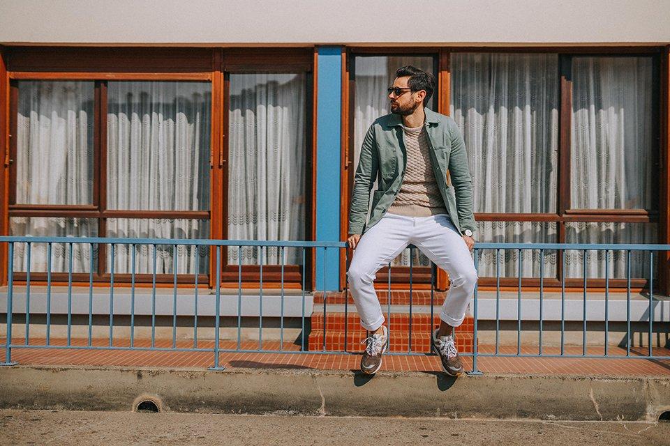 look max la caravelle tenue pantaln blanc homme