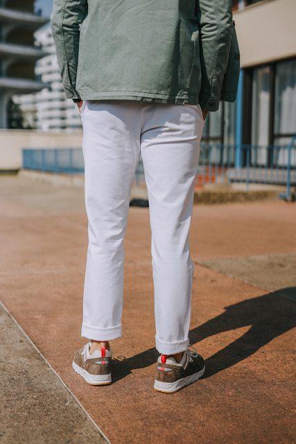 look max la caravelle pantalon mr marvis blanc dos