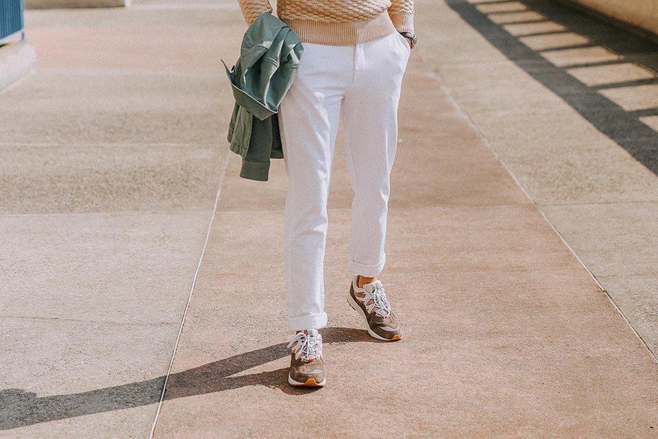 look max la caravelle pantalon mr marvis blanc