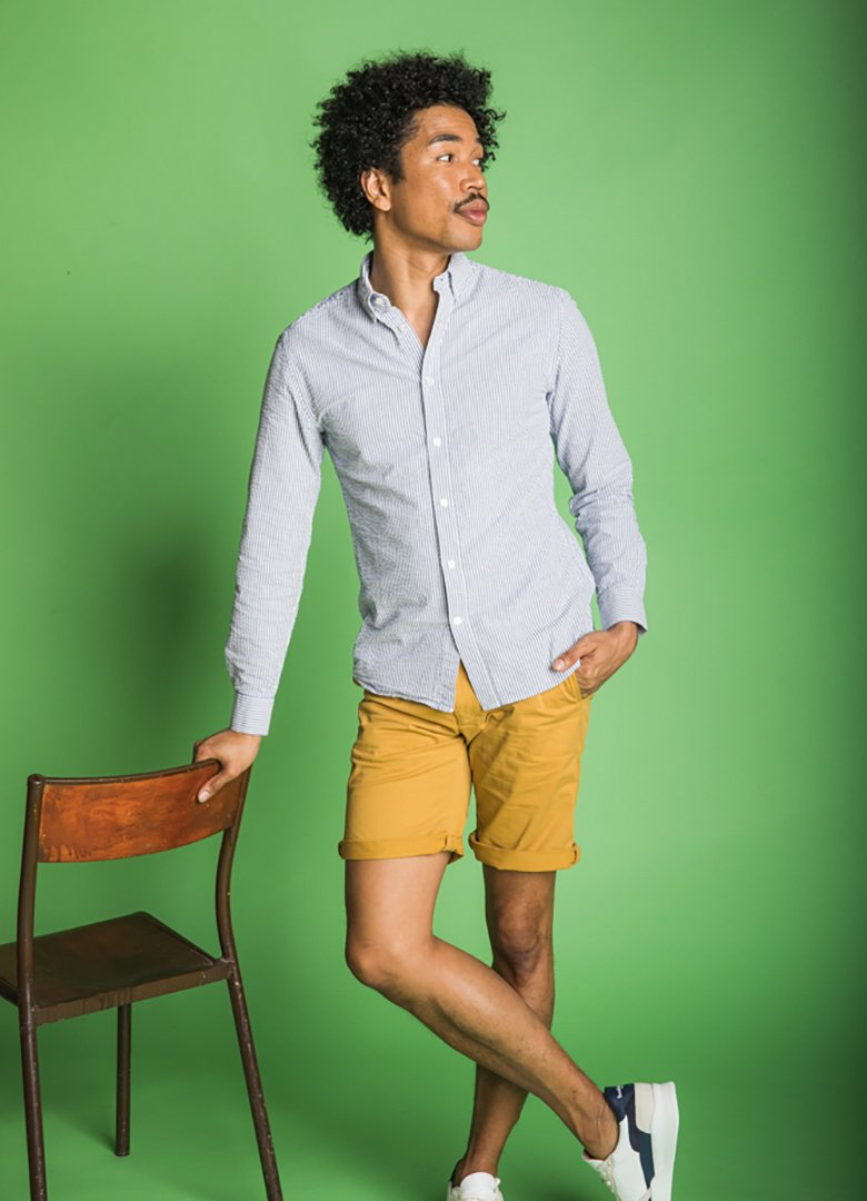 Short jaune chemise paname collections