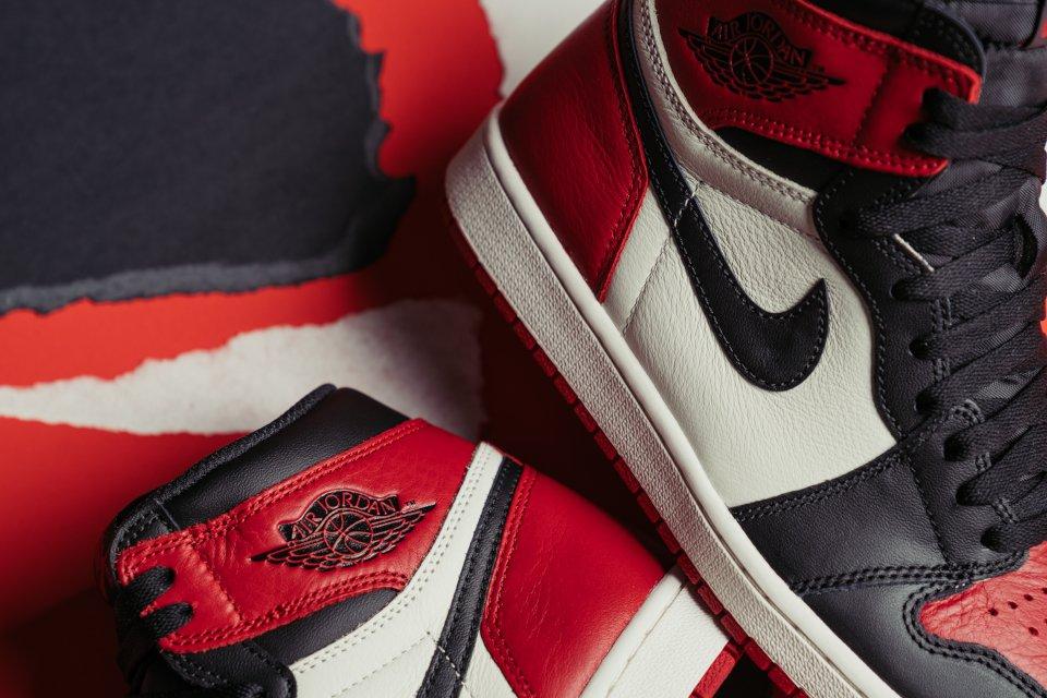 air jordan 1 bred rouge noir et blanche