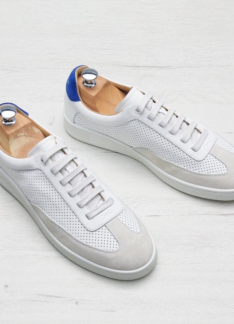 basket in corio maxime blanche et bleu
