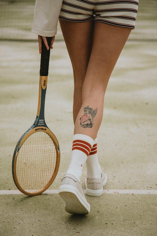 Chaussettes Erwans old school femme tattoo