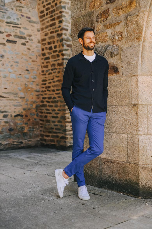 Pantalon Jagvi Chino Bleu Max