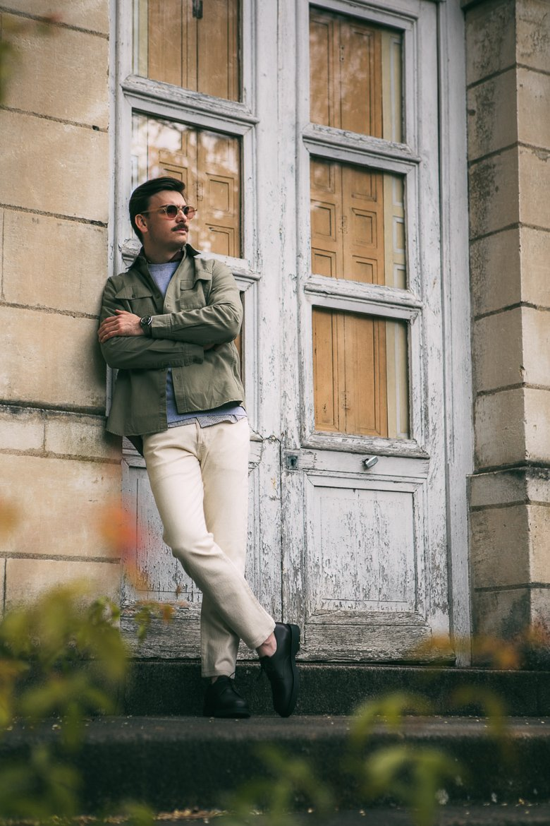 look homme military vert style
