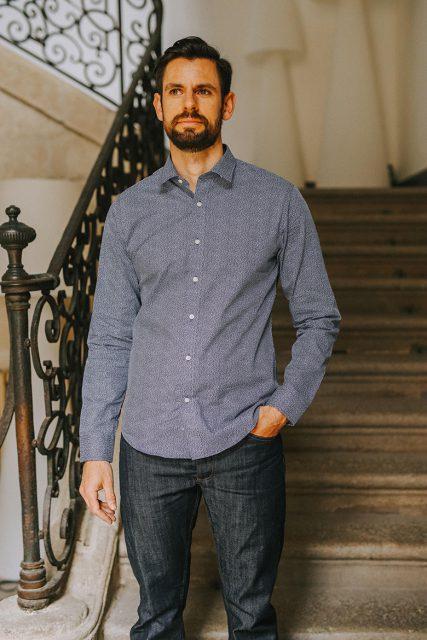 promotion chemise bexley imprime fleurs homme