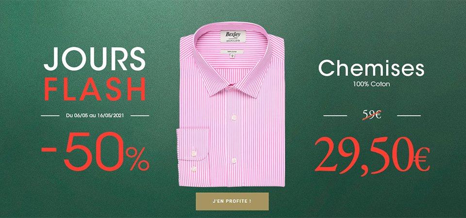 promotion chemises bexley jours flash 2021