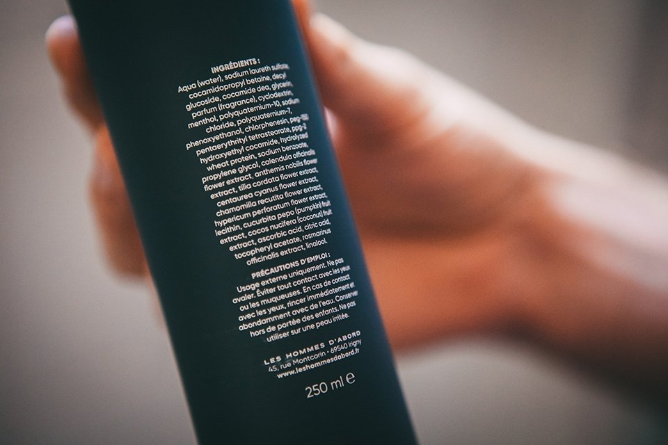shampoing hommes dabord ingredients