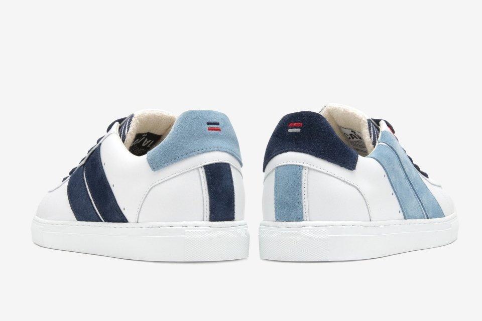 collaboration caval x saint james sneakers sweat basket talon