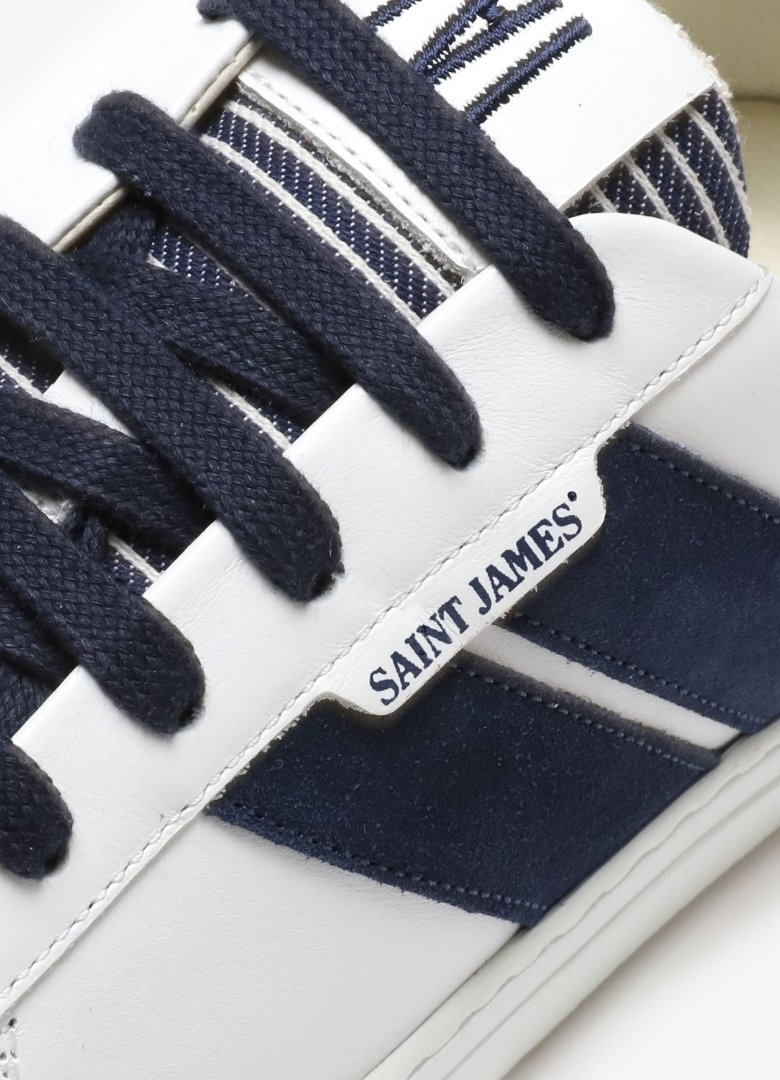 collaboration caval x saint james sneakers sweat focus basket