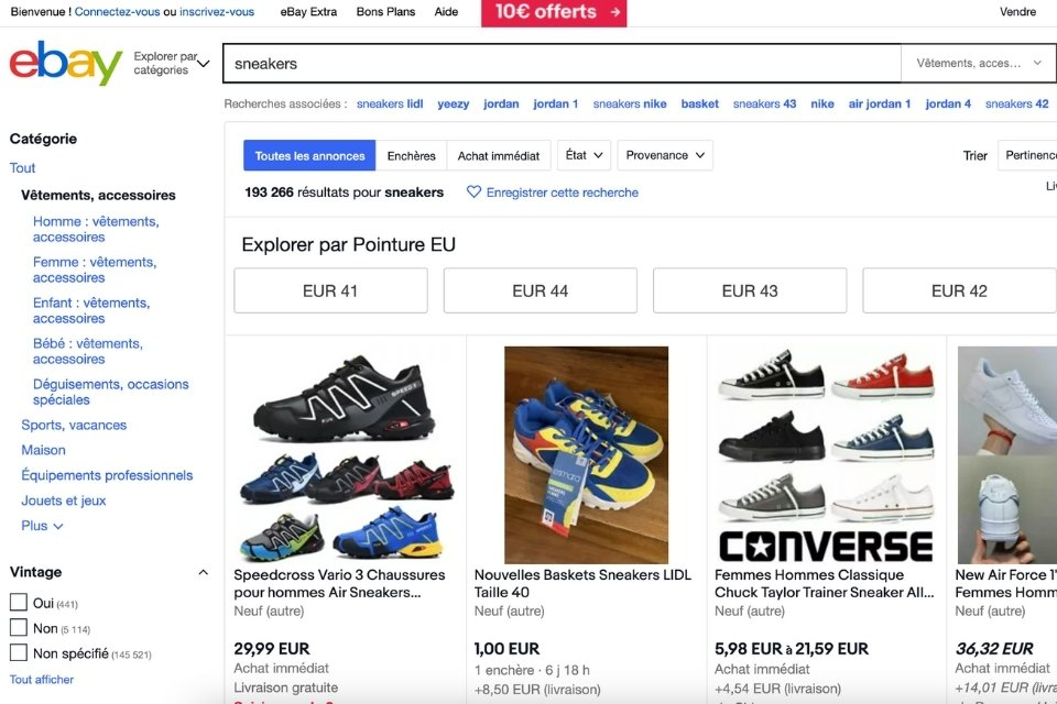 Ebay site resell sneakers