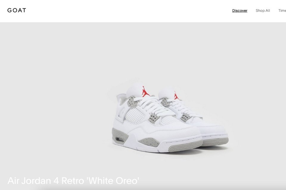 GOAT site resell sneakers