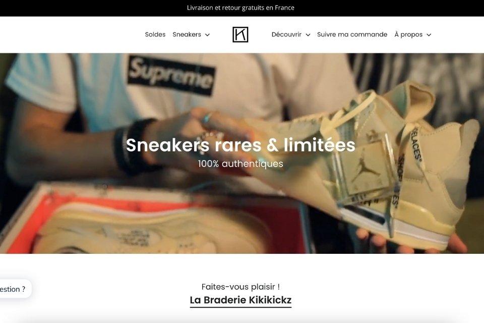 Kikikickz site resell sneakers