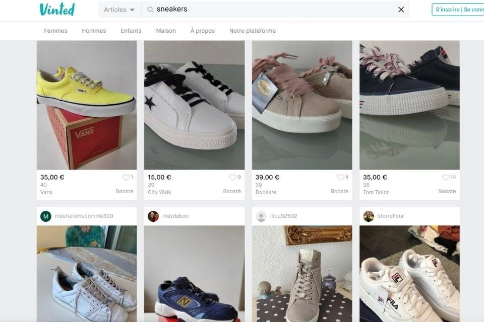 Vinted site resell sneakers