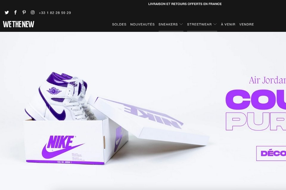 Wethenew site sneakers resell