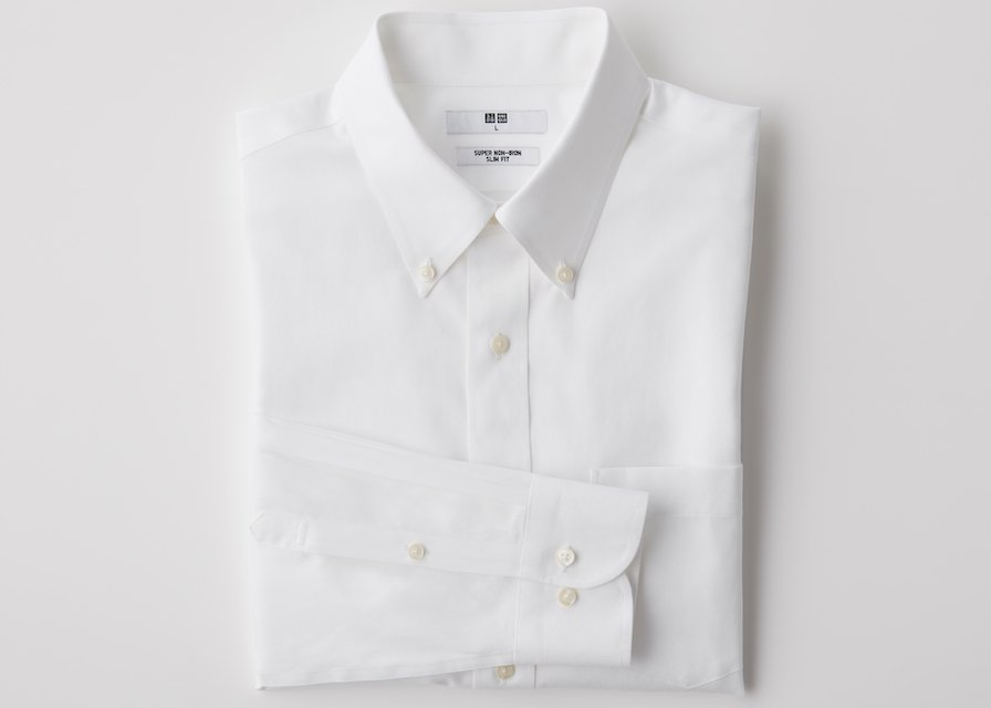 chemises no iron uniqlo