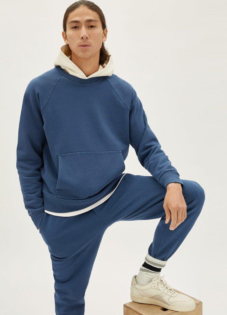 everlane sweatshirt bleu