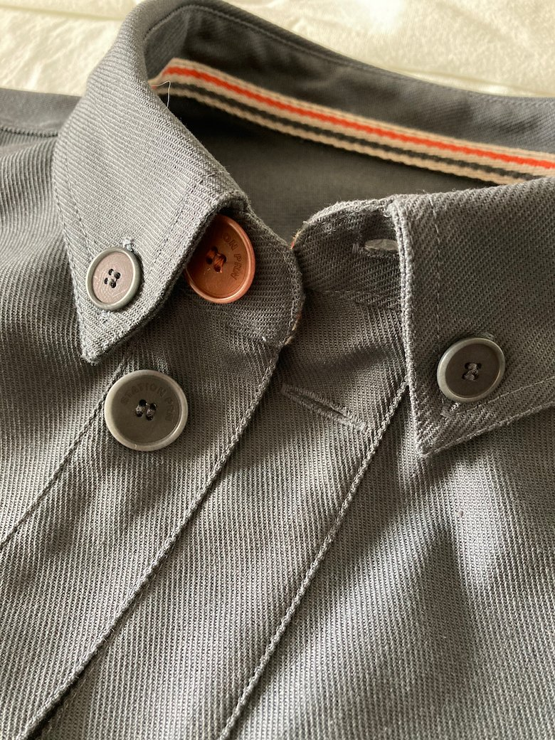 sur-chemise col détail