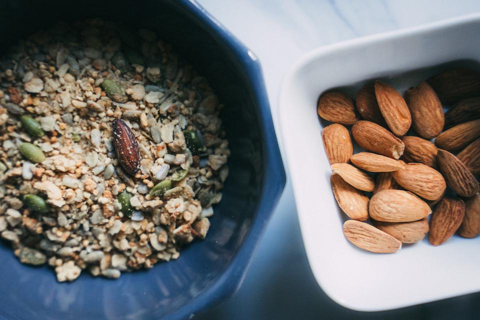 alimentation marathon cereales amandes