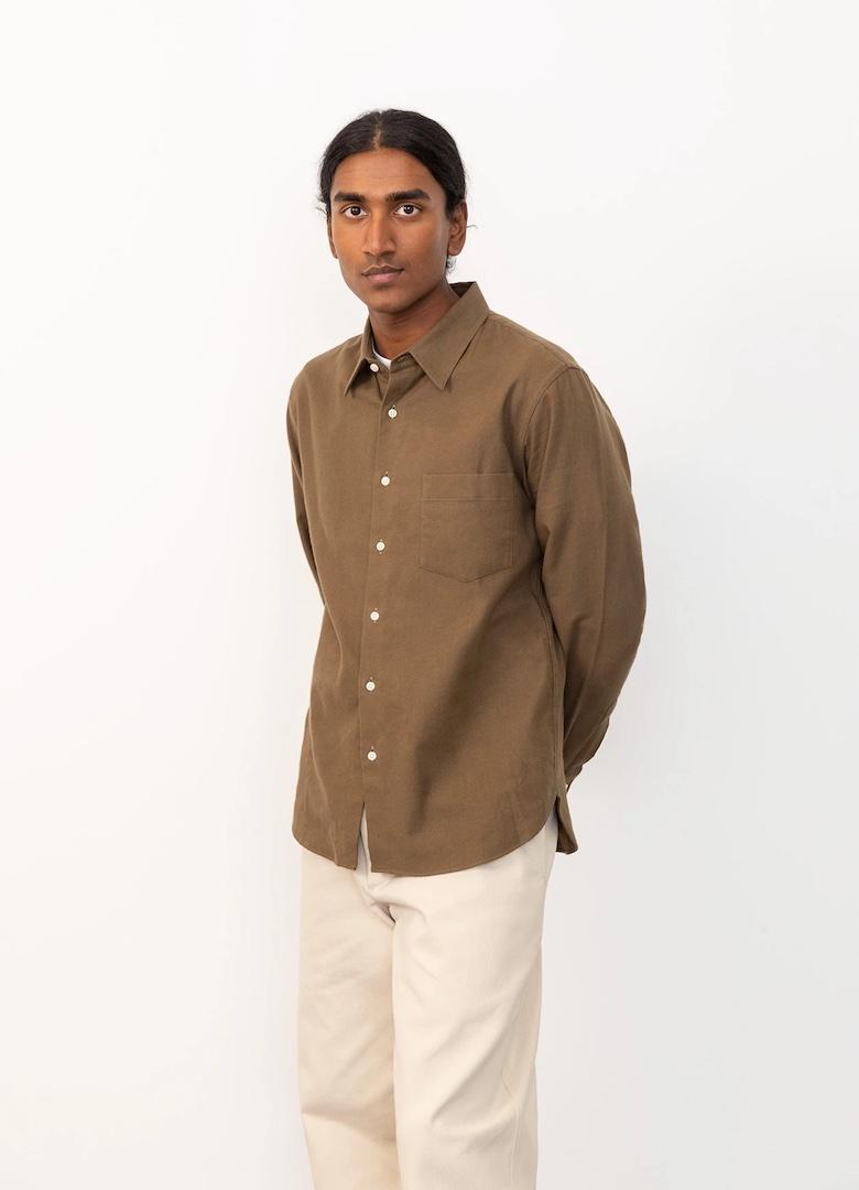 de bonne facture essential-shirt-organic-cotton-flannel-khaki4 - copie