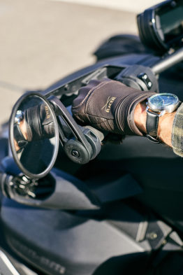 gants cuir moto marron racer stance guidon