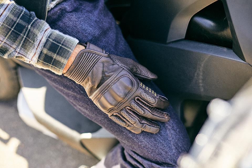 gants cuir moto marron racer stance