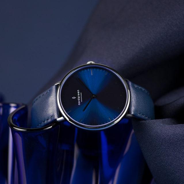 Nordgreen Native blue strap leather