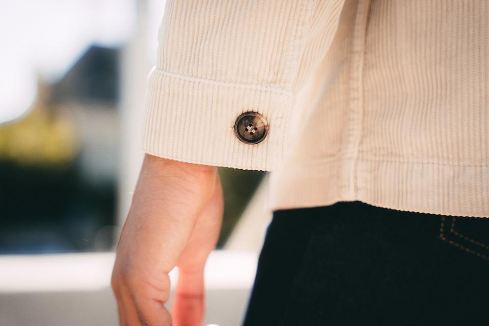 veste hast details bouton